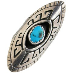 M. Nez Sterling and Turquoise Ring