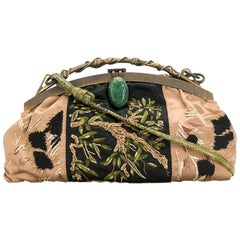 Valentino Evening Embroidered Beatle Bag