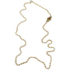 CHANEL Vintage Beaded Necklace in Molten Glass