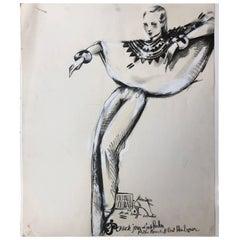 Michaele Vollbracht Original Large Format Fashion Illustration