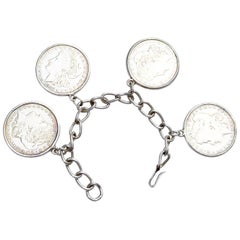 Southwestern Handmade Silver Dollar Bracelet/ Antique Coins