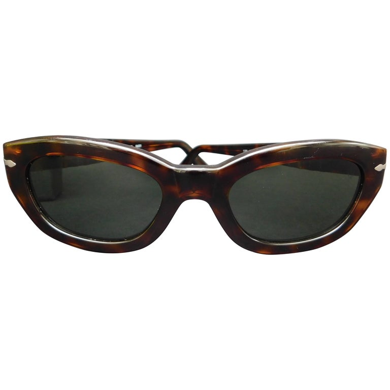 Persol Model 2572-s Brown Tortoise Sunglasses For Sale