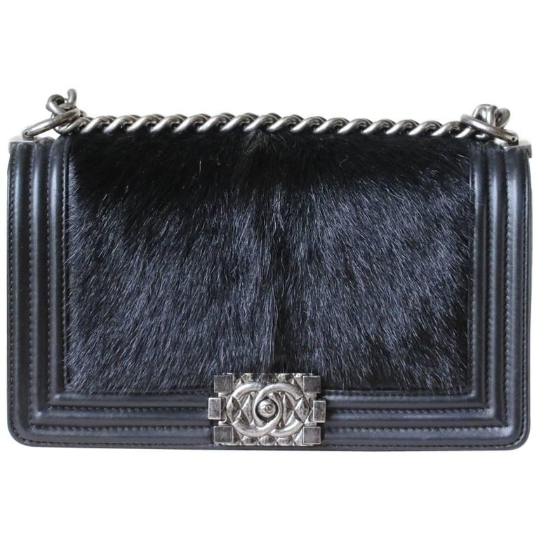 Chanel Boy Medium Celtic with Goat Skin and Hair Bag