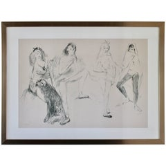 Marcel Vertes Lithograph Dancers Signed Numbered Vincent Price Collection 60s