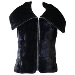 Milady Black Mink Fur Vest