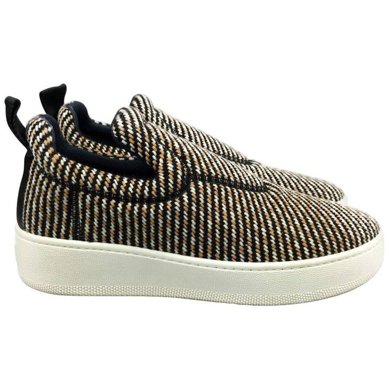 CELINE by  PHOEBE PHILO tweed skater shoes - 41 - new