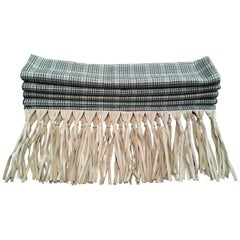 Gorgeous Hermès Vintage Scarf Glen Plaid Prince of Wales Tartan Wool Silk