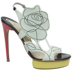 Nicholas Kirkwood Multi Floral Yellow / Pink Python Shoes