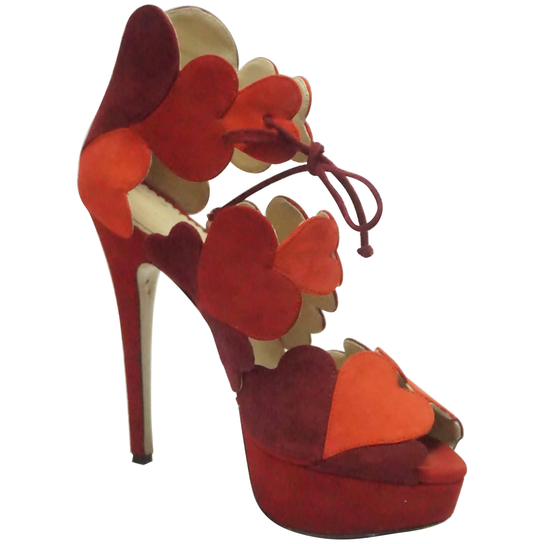 fe5f93e11e Applique Shoes - 24 For Sale on 1stdibs