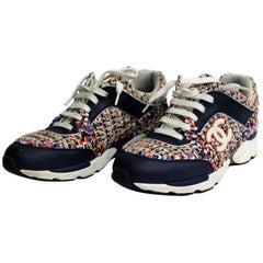 Chanel 13S Multi-color Tweed Sneakers
