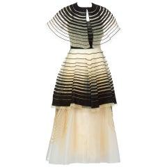 Fendi Runway Black Cut Out Suede Three Piece Dress Set, 2008