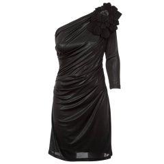 2008 A/W Collette Dinnigan Runway Liquid Jersey Black Dress