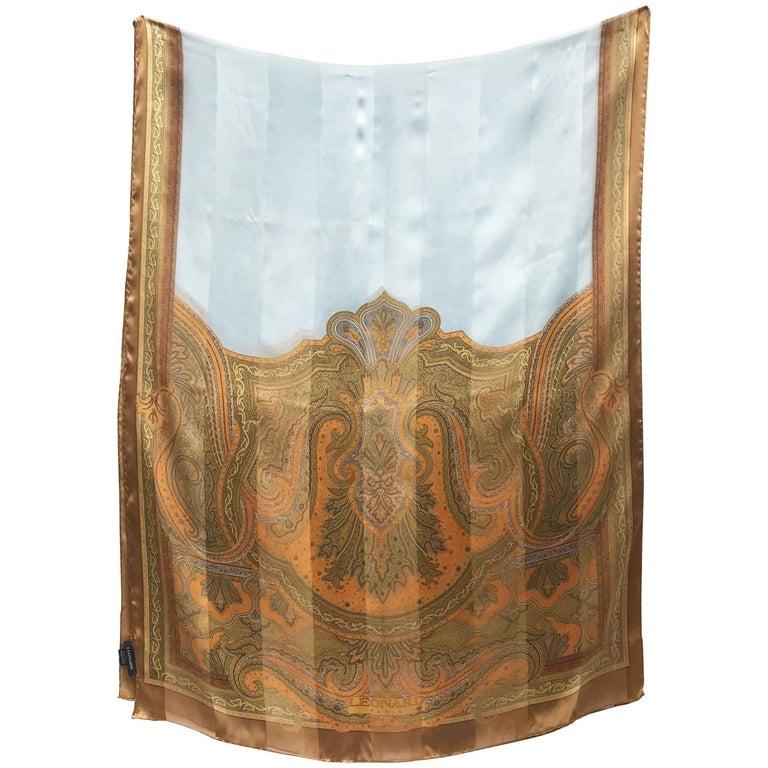 LEONARD silk scarf.