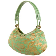 New Kate Spade Spring 2005 Green Brocade Evening Bag