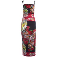 Dolce & Gabbana red silk spandex bodycon evening dress, A/W 1998