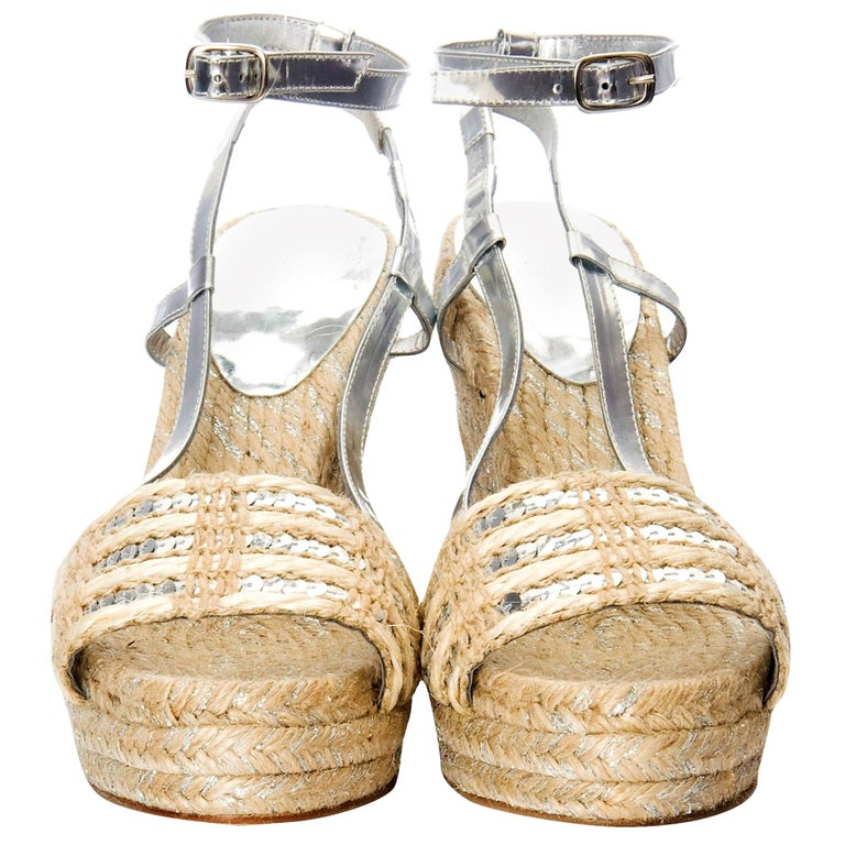 New Kate Spade Collectible Spring 2005 Wedge Heels Sz 9 In New Condition For Sale In Leesburg, VA