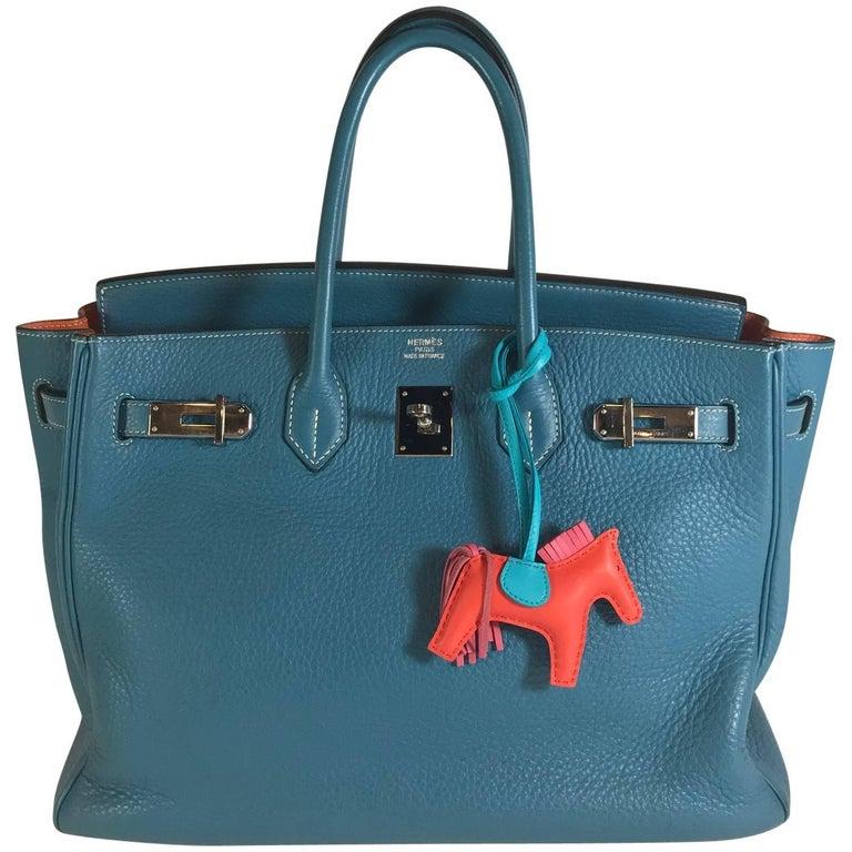 Hermès Birkin 35cm Blue Togo Including Key Chain