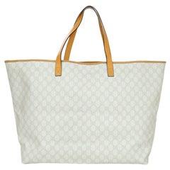 Gucci Cream Canvas Monogram Large Tote Bag