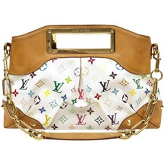 Louis Vuitton White Monogram Multicolor Judy MM Bag