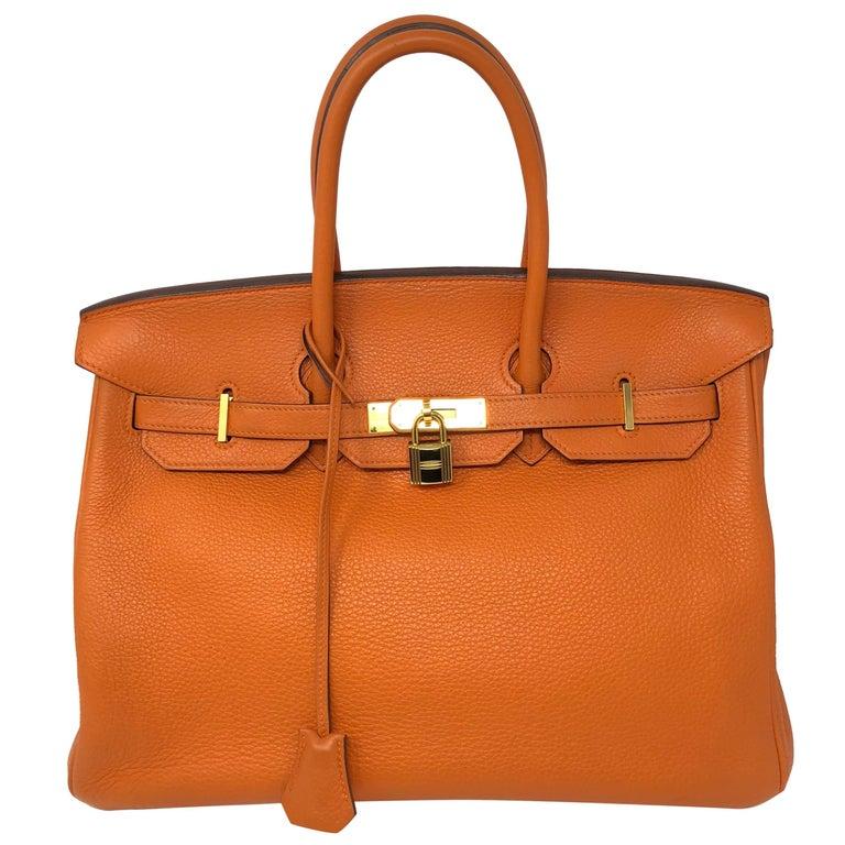 Hermes Orange Birkin 35