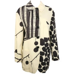 Moschino Couture White Organic Wool Fabric Jacket