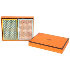 Hermes Playing Cards Set of Chain De Ancre Design New