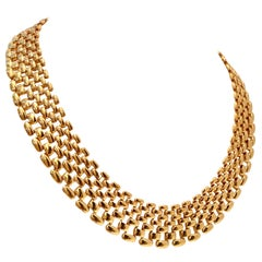 20th Century Gold Plate Choker Style Necklace By, Napier