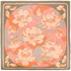 Hermès Fleurs de Lotus Scarf by Christiane Vauzelles, 1985