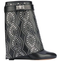 Givenchy Studded Sharklock Fold-Over Boots