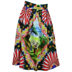Dolce & Gabbana Multi-Color Print Skirt Sz IT42