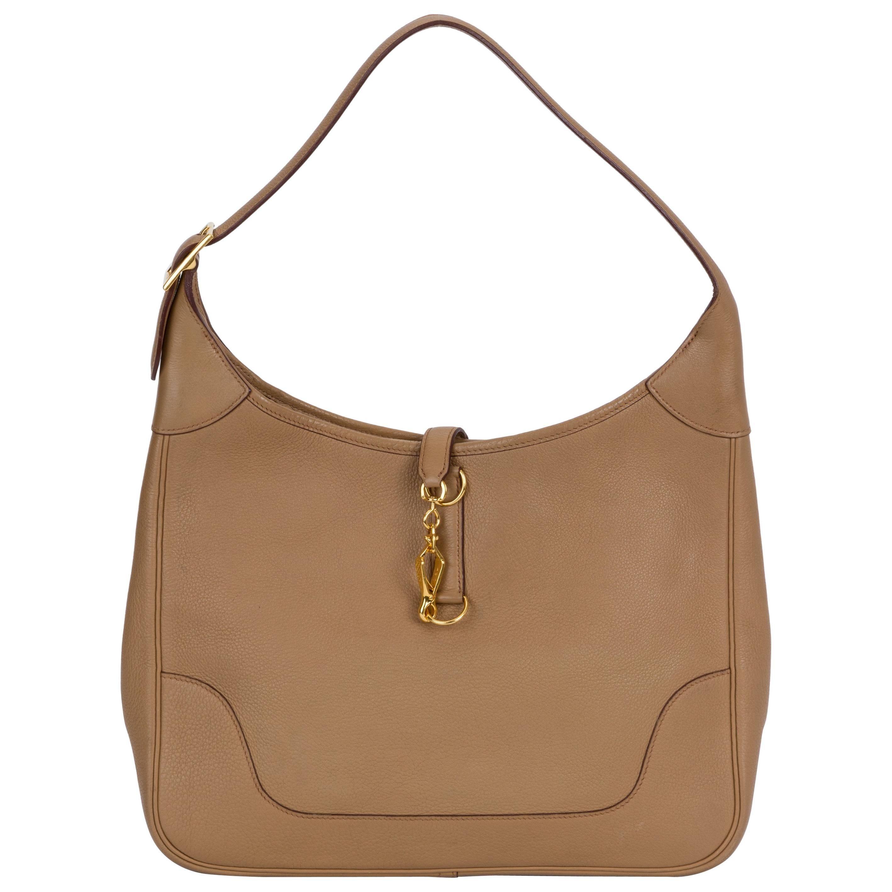 Hermes Trim Shoulder Bag Light Brown Bag
