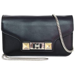 Proenza Schoulder Black Leather PS11 Wallet On Chain WOC Crossbody Bag