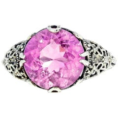 Gemjunky Brilliant Custom 6.5 Carat Kunzite Sterling Silver Ring