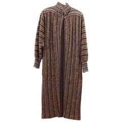 Missoni Vintage Long Wool Woman's Coat Italy