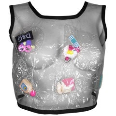 1990's Limited Edition D&G Dolce & Gabbana Clear Plastic Barbie Novelty Top