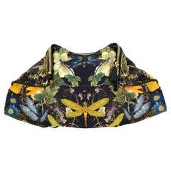 Alexander McQueen Dragonfly Satin De-Manta Clutch Bag