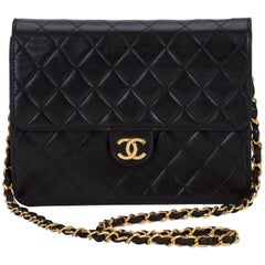 Chanel Black 2 Way Clutch/Shoulder Bag