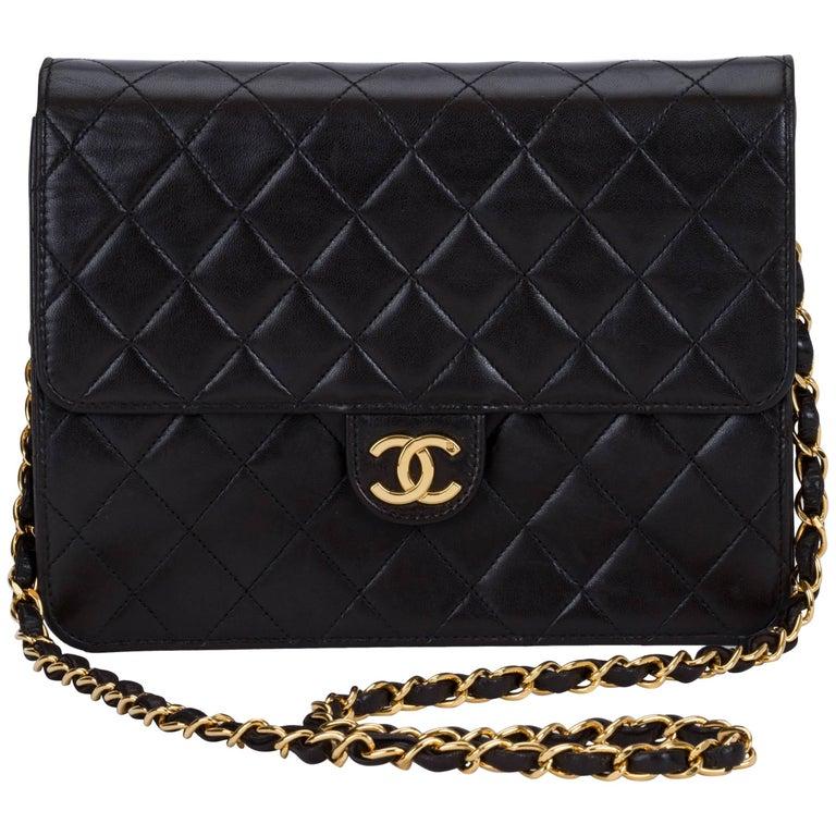 Chanel Black 2 Way Clutch/Shoulder Bag