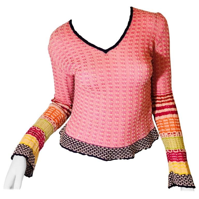 ef91db213e46da Missoni Knit Top For Sale at 1stdibs
