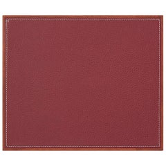 Hermes Rouge Leather H Logo Men's Miscellaneous Gift Desk Table Pad