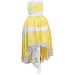 Escada silk  Corset  dress/ gown Yellow silk Taffeta SO PRETTY!!!