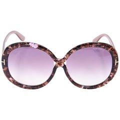Pink Tom Ford Oversized Sunglasses