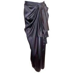 YSL Yves Saint Laurent Rive Gauche Clack long tulip wrap skirt