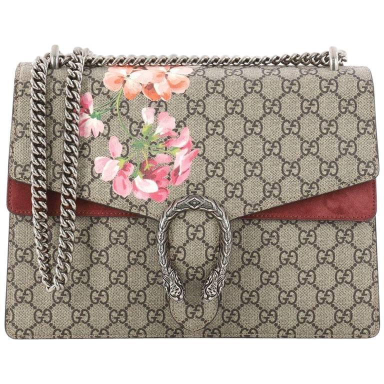 ad7d2928482d Gucci Dionysus Handbag Blooms Print GG Coated Canvas Medium at 1stdibs