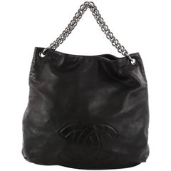 Chanel Soft and Chain Hobo Leather Large
