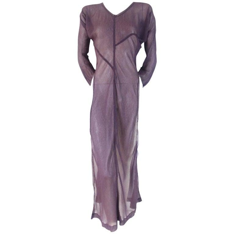 Comme des Garcons 1993 Collection Bias Cut Side Split Dress