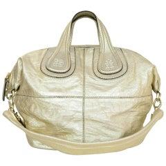 Givenchy Gold Leather Nightingale Satchel Bag