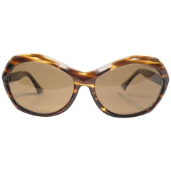 New Vintage Rare Pierre Marly Nicky Oversized Avantgarde 1960 Sunglasses
