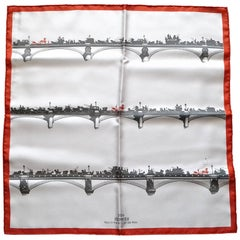 Hermès Gavroche Pocket Square Air de Paris Paris in the Air Scarf 2006 Collector
