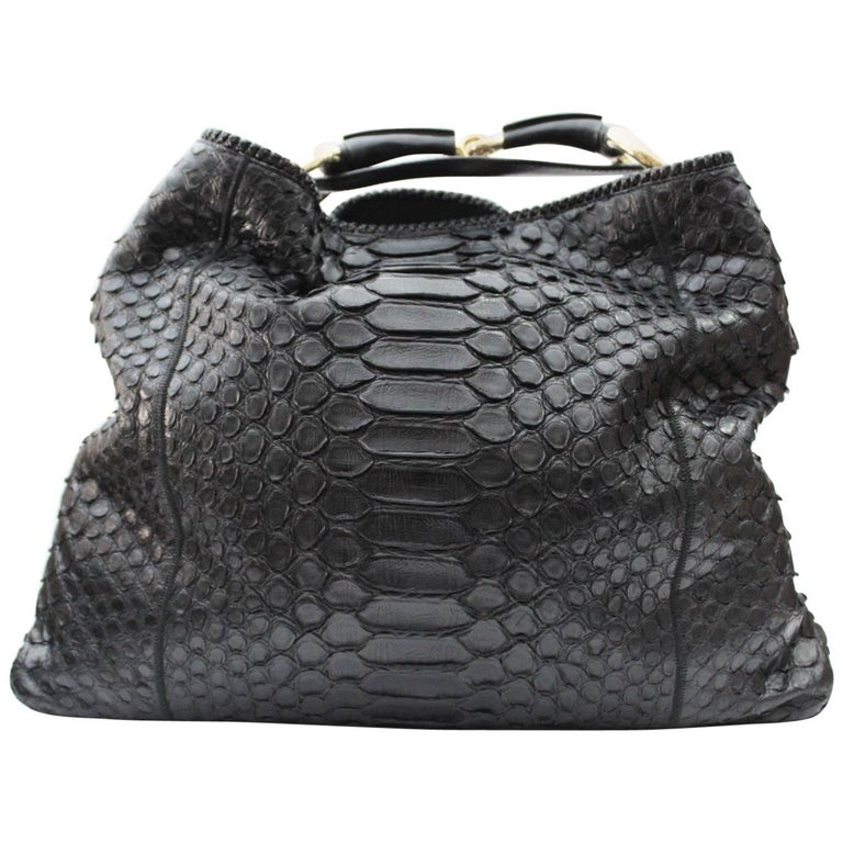 94d36784164d10 Gucci Horsebit Python Hobo Bag at 1stdibs